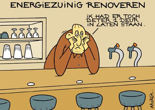 Cartoon Laatjebouwen - Te energiezuinig renoveren