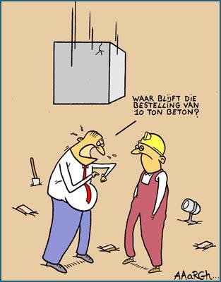 Cartoon over de bouw - Aaargh