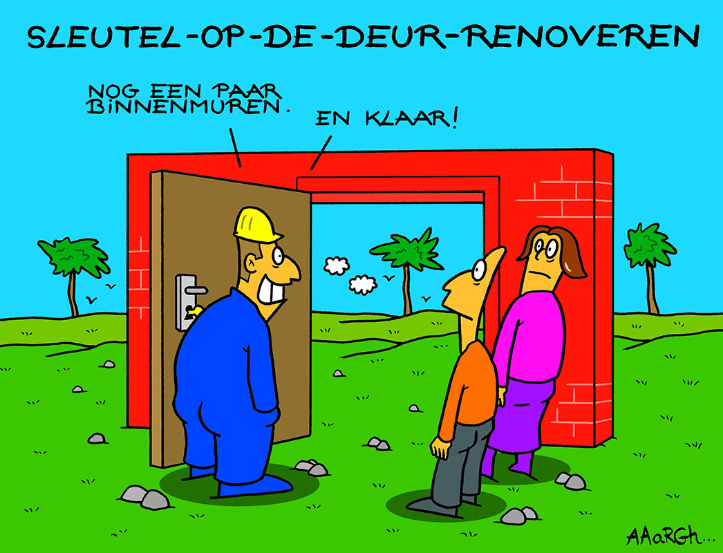 Cartoon Aaargh - Sleutel op de deur Renoveren