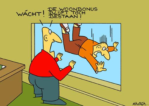 Cartoon Laatjebouwen - Wat met de woonbonus