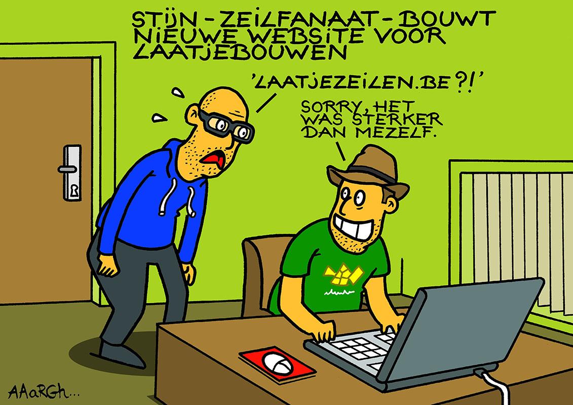 Cartoon Aaargh, Laatjebouwen 4.0 Vernieuwd
