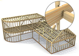 Detail Houtconstructie - Nieuwe bouwtechnieken