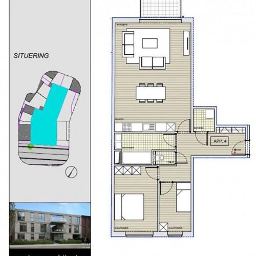 Grondplannen nieuwbouwproject van Superhuis te Borsbeek