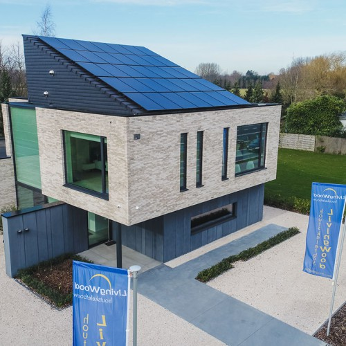 Kijkwoning van Livingwood Houtskeletbouw - Nieuwe Steenweg te Temse