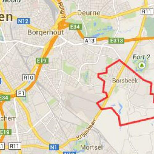 Stratenplan nieuwbouwproject Superhuis te Borsbeek