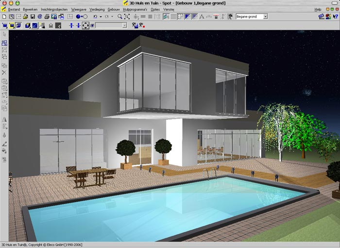 Laatjebouwen 3d huis en tuin tekenprogramma en for 3d tekenprogramma