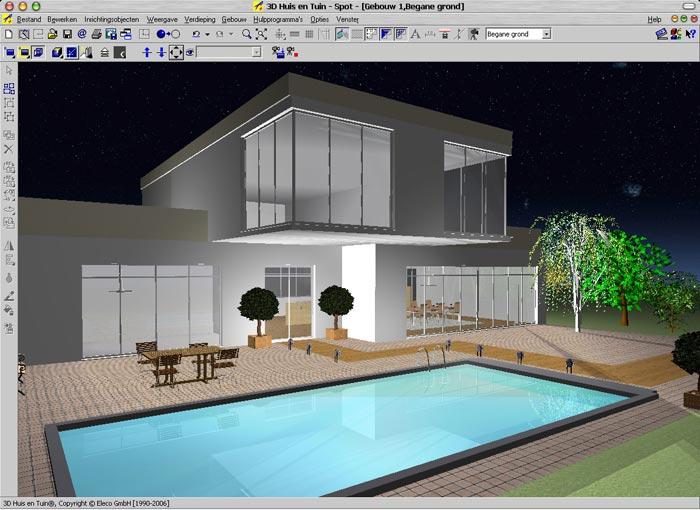 Laatjebouwen 3d huis en tuin tekenprogramma en for Interieur ontwerpen programma