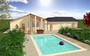 Realisatie van 3D huis en Tuin