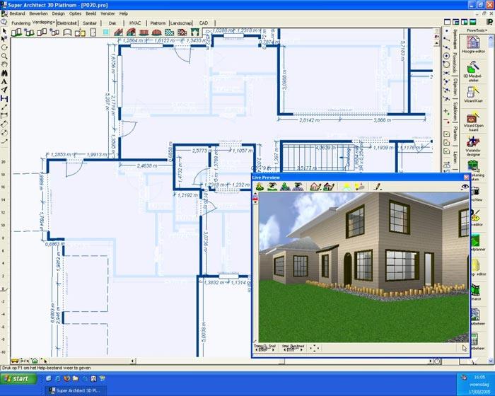Laatjebouwen super architect 3d nexgen tekenprogramma for Programma tuin ontwerpen 3d