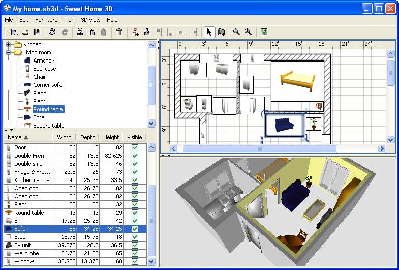 Laatjebouwen sweet home 3d tekenprogramma en tekensoftware for 3d programma interieur