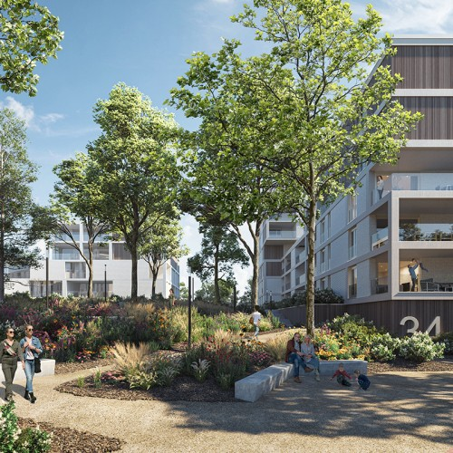 Nieuwe appartementen aan de Willemskaai te Maasmechelen