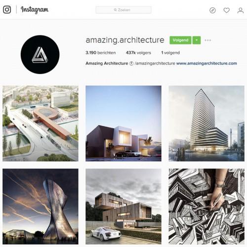 Architectuur en Interieur te volgen op volgende instagram accounts