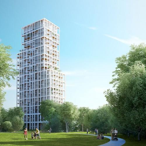 De meest duurzame woontoren komt in Antwerpen, Zuiderzicht zal aangesloten worden op een collectief warmtenet