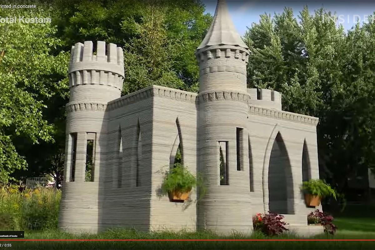 Met de 3D betonprinter geautomatiseerd beton plaatsen
