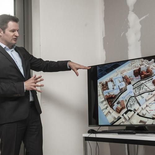 De installatie van een koudenet zal in Leuven gebeuren in het bouwproject Janseniushof van Resiterra