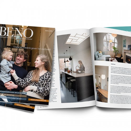 Om kandidaat-verbouwers te helpen BENOveren maakt de Vlaamse verbouwsector het magazine BENO.