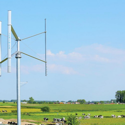 Winturbines van Fairwind draaien om de verticale as en zijn ideaal voor kleine vermogens