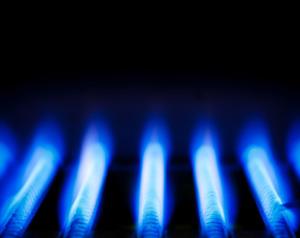 Aardgasvlam in aardgasketel