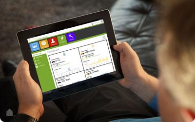 Beheer van woning met Smartphone, Tablet of Computer