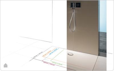 Bette inbouw douchebakken voor extra vlakke vloer - Bettefloor Side