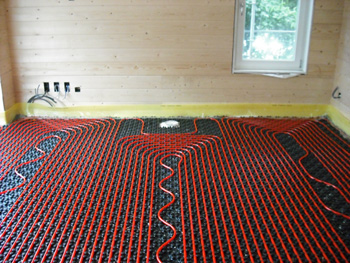 Combinatie Vloerverwarming en Wandverwarming zonder radiatoren