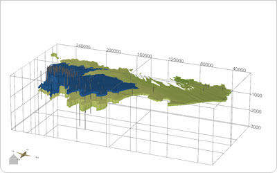 Geologisch 3D lagenmodel van Vlaanderen