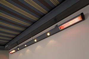 Harol - Storelight-II verlichting verwarming terras en windscherm SL 400