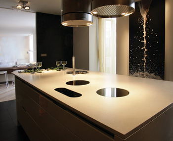 Een keukenwerkblad in kwarts van Silestone