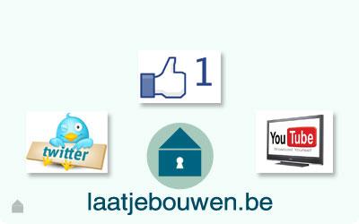 Laatjebouwen - Facebook Twitter Youtube