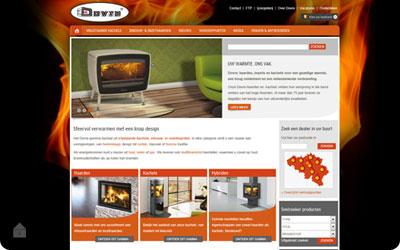 Nieuwe website Dovre kachels en haarden - www.dovre.be