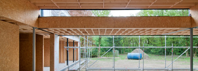 Plat dak met Norbord Sterling OSB Zero platen