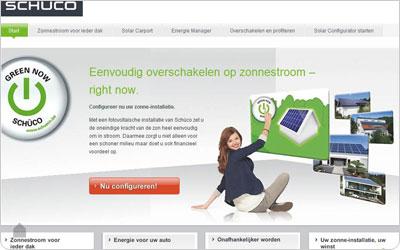 Schüco online configurator voor zonnepanelen installaties