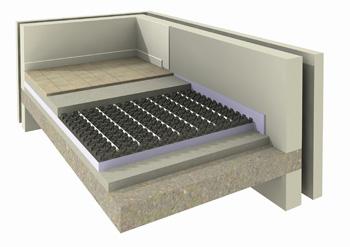 Vasco noppenplaatsysteem voor vloerverwarming